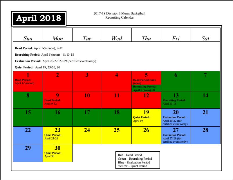Recruiting Calendar | pcbb1917.– Providence College Basketball