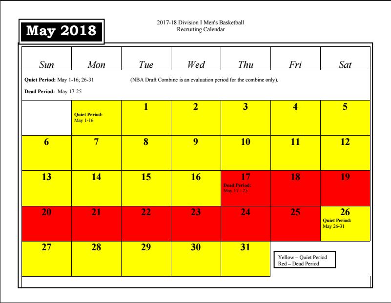 May 2018 Recruiting Calendar | pcbb1917.com – Providence ...